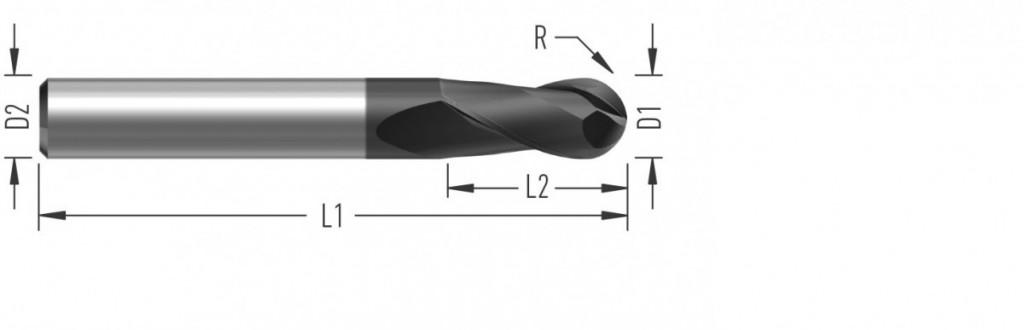 FinishBall (F8250) kulová fréza, dokončovací