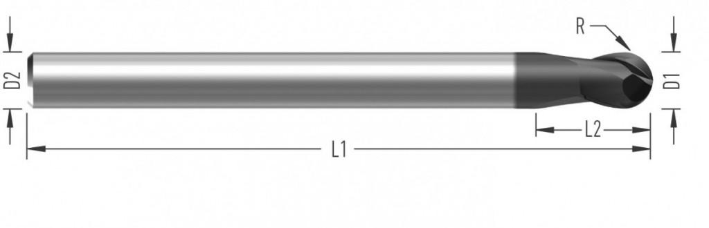 FinishBall XL (F8260) kulová fréza, dokončovací