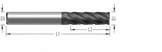 DoubleHelix (F8410) rohová fréza dokončovací, čtyřzubá č.1