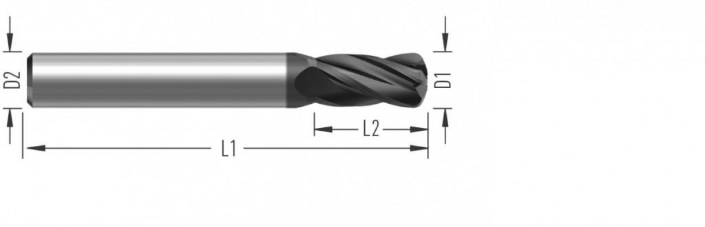 Speed 4Z (F8500) rychloposuvová fréza, čtyřzubá