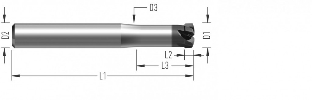 Speed 5Z (F8510) rychloposuvová fréza, pětizubá