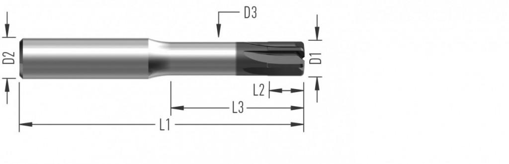 Speed 6Z (F8530) rychloposuvová fréza, šestizubá, s vnitřním chlazením