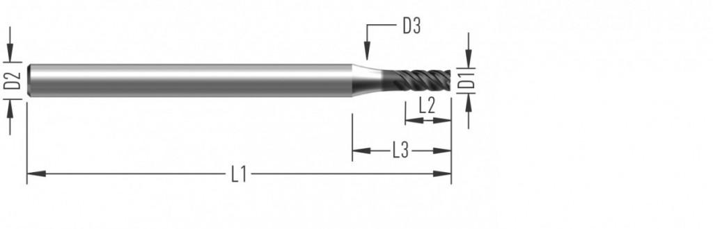 MiniCut (F8625) vysokovýkonná fréza