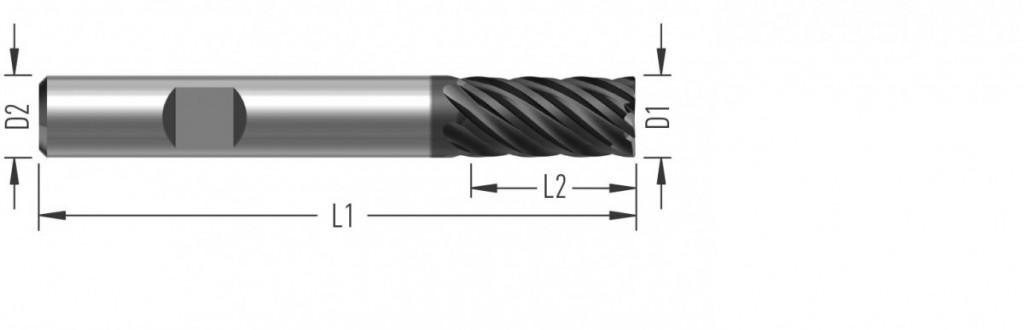 UniCut 6Z (F8670) univerzální rohová fréza, šestizubá