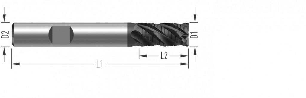 UniCut RC (F8700) univerzální rohová fréza, čtyřzubá, s děliči třísek