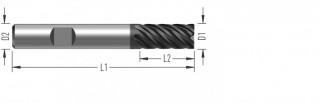 SuperCut 6Z (F9000) rohová fréza, šestizubá, s vnitřním chlazením č.1