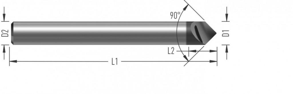 Jednobřitý srážeč (V4090) s úhlem špičky 90°